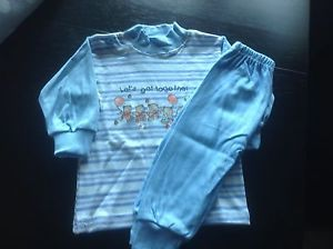 Adorable Blue Baby Boy Play Outfit Size 0 3 Months Clothes 1 Penny Great Deal