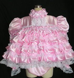 Adult Sissy Baby Bubble Dress Set Panties LS