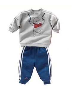 2pcs New Boy's Movement Cartoon Bear Male Baby Wear Leisure Clothes