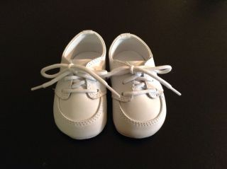 Baby Boys Girls White Leather Crib Oxford Saddle Shoes Size 2