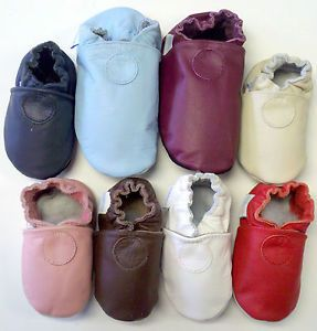 New Robeez Soft Sole Leather Baby Shoes Asst Solid Colors Asst Sizes