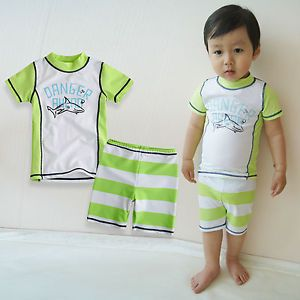 "Vaenait Baby Toddler Kid's Boy Swimwear Swimsuit Bathing Suit ""Shark Green"""