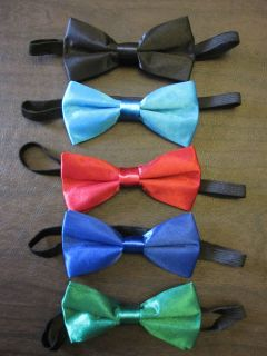 Baby Boy Child Kid Bowtie Wedding Dress Satin Bow Tie Red Black Blue Pet Dog Cat