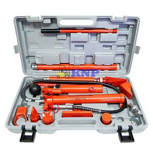 HD 10 Ton Porta Power Hydraulic Jack Body Frame Repair Kit Tools Automotive Shop