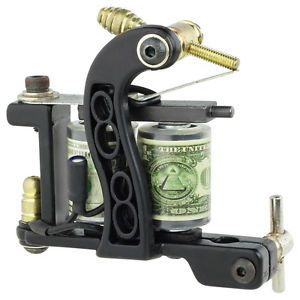 New Pro Tattoo Machine Gun Liner Shader Premium 10 Wrap Coils Smooth Powerful