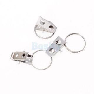 "2X 10pcs Stainless Steel Curtain Rod Clip Rings Drapery Clips 0 85"" High Quality"