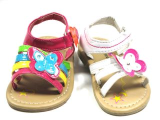 HONEY86 Cute Butterfly Toddler Baby Girl Sandals Strappy Summer Spring Pageant