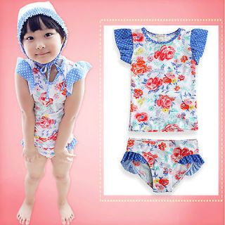 "Vaenait Baby Toddler Girl Swimwear Bathing Swimmingsuit Set ""Sunrose 2piece"""
