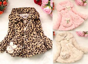Toddlers Baby Girls Faux Fur Coat Kids Winter Jackets Clothes Snowsuit Clothing