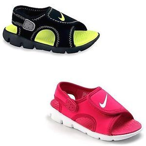 New Boy Girl Nike Sunray Adjustable Summer Sandals Shoes Toddler Size 9T 10T