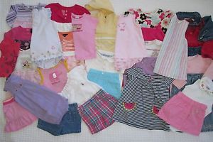 Huge Lot of 38 Baby Toddler Girl 12 18 Months Spring Summer Clothes