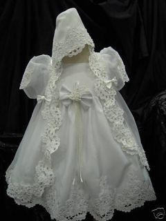 Baby Girl Baptism Christening White Dress Gown Z 1Year