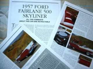 D 57 1957 Ford Fairlane 500 Skyliner Info