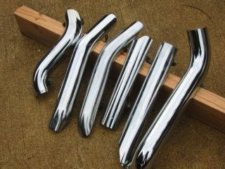 Harley Davidson Touring Stock Chrome Heat Shields and Clamps