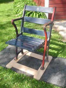 Antique Fenway Park Wooden Iron Stadium Seat Chair Boston Red Sox Baseball 1934