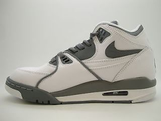 306252 109 Mens Nike Air Flight 89 White Crimson Clay Grey Black