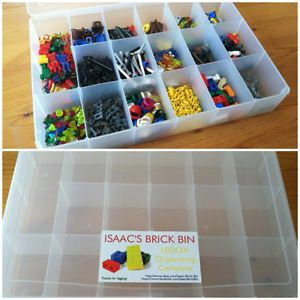 Lego Organizer Container Storage Case for Minifigures Accessories Pieces