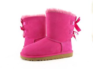 Children's Shoes UGG Australia Kids Bailey Bow Double Ribbon Boots Cerise