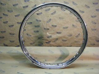 Original Dunlop Chrome 40 Spoke Front Motorcycle WM2 19 Rim Triumph BSA
