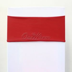 10 Red Spandex Lycra Stretch Chair Cover Bands Replace Chair Sash Bow Wedding