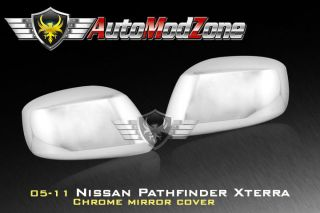 05 12 Nissan Pathfinder Xterra Chrome Side View Mirror Covers Set