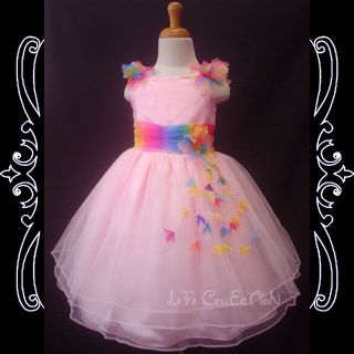 Flower Girls Baby Princess Wedding Pageant Dresses New Pink 2 3 4 5 6 Years