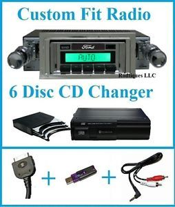1942 1948 Ford Full Size Car Radio 6 Disc CD Changer USB Aux Stereo 630 II