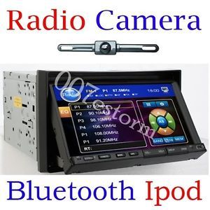 Rear Camera Double DIN Car CD DVD Player Radio RDS Bluetooth USB SD USB iPod