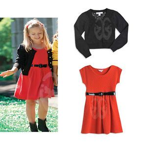 Baby Girl's Long Sleeve Coat Dress Belt 3pcs Outfits 1 5Y 111