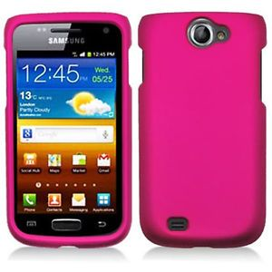 Pink Rubberized Hard Case Cover Samsung Galaxy Exhibit II 2 4G T679 Accessory
