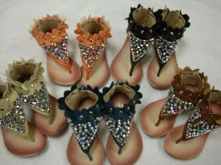 New Toddler Children Thong Rhinestone Sandals with Zipper