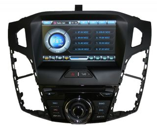 "2012 Ford Focus Titanium 8"" GPS Navigation Stereo Radio DVD Bluetooth Aux USB"