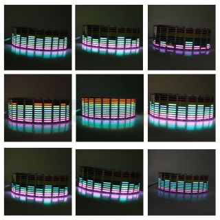 Multicolor Flashing Car Music Rhythm LED Lamp Sticker Sound Activated Equalizer