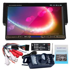"7"" LCD 1 DIN Car Stereo DVD Player Car Monitor SD USB FM Radio  Backup Camera"