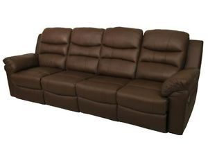 Seatcraft Genesis Home Theater Seating 4 Recliners Brown Leather Manual Chair