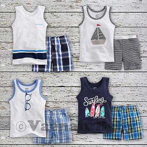 "2 Pcs Vaenait Baby Toddler Kids Boy Sleeveless Outfits Homewear""2013 Summer"""