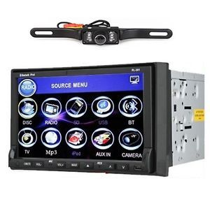 2Din 7''Car Stereo DVD Radio TV Player Rear View Camera