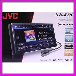 JVC KW AV70 Touch Screen LCD DVD  iPhone iPod Car Player Receiver Stereo