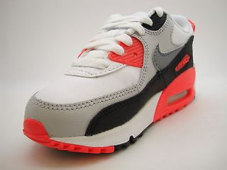 307794 137 Pre School Little Kids Nike Air Max 90 White Clay Grey Infrared