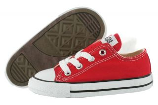 Converse All Star Kids Ox Toddler Red 7J236 Classic Canvas Shoes Infant
