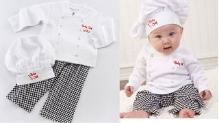 6 24M Baby Party Costume Fancy Dress Character Professional Chef Cooking w Hat