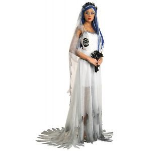 Deluxe Corpse Bride Costume Adult Womens Sexy Halloween Fancy Dress