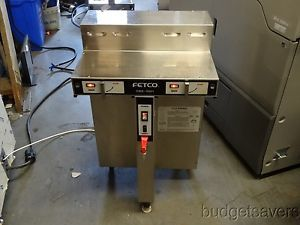 Fetco CBS 52H15 Stainless Steel Commercial Twin Coffee Brewer with Hot Water