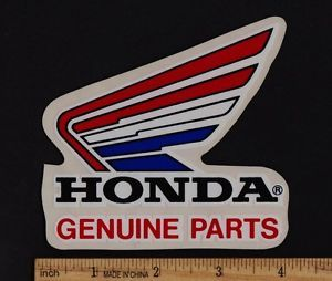 Honda Genuine Parts Sticker Decal CR125R VF750F CR250R CB900F Vintage Motorcycle