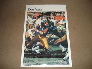 Vintage 1979 Dan Fouts Sports Illustrated San Diego Chargers NFL Poster