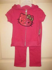 Hello Kitty Baby Girl Clothes 2 Piece Set in Sequin Pink Size 2T CLEARANCE
