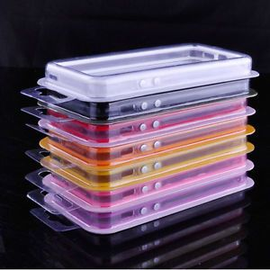 Clear Transparent TPU Frame Bumper Case Cover w Metal Buttons Side for iPhone 5