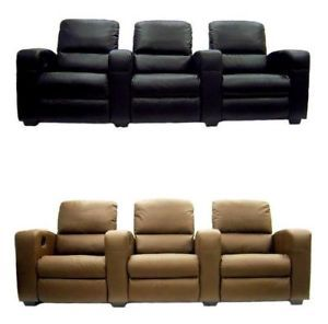 Home Theater Seating Recliner Chair Movie Seats Leather Lounger Sofa