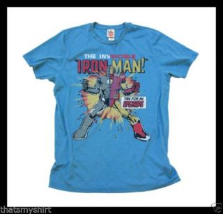 New Authentic Mens Iron Man Upgrade Tee Shirt by Junk Food Clothing