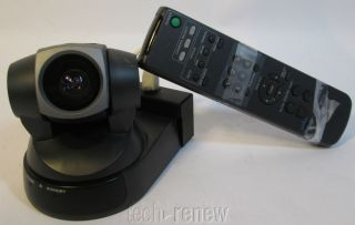 Sony EVI D100 Pan Tilt Zoom Color Video Conference Camera with Remote